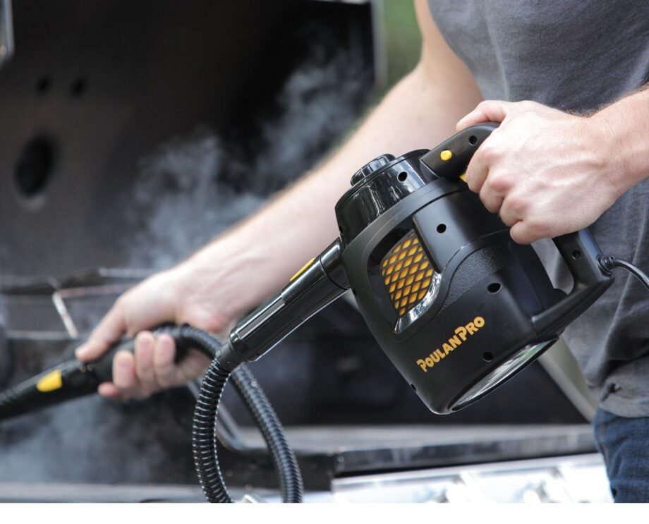 Poulan Pro PP230 Handheld Steam Cleaner In-Use Grill