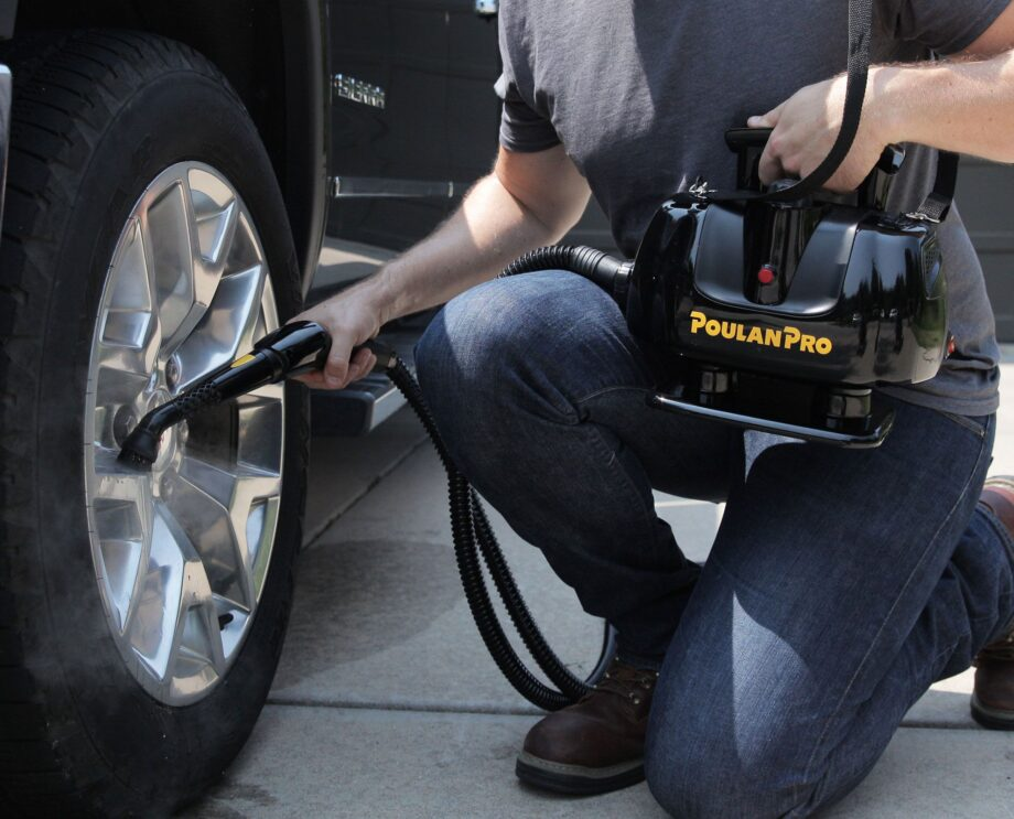 Poulan Pro PP270 Portable Power Steam Cleaner Lifestyle Truck